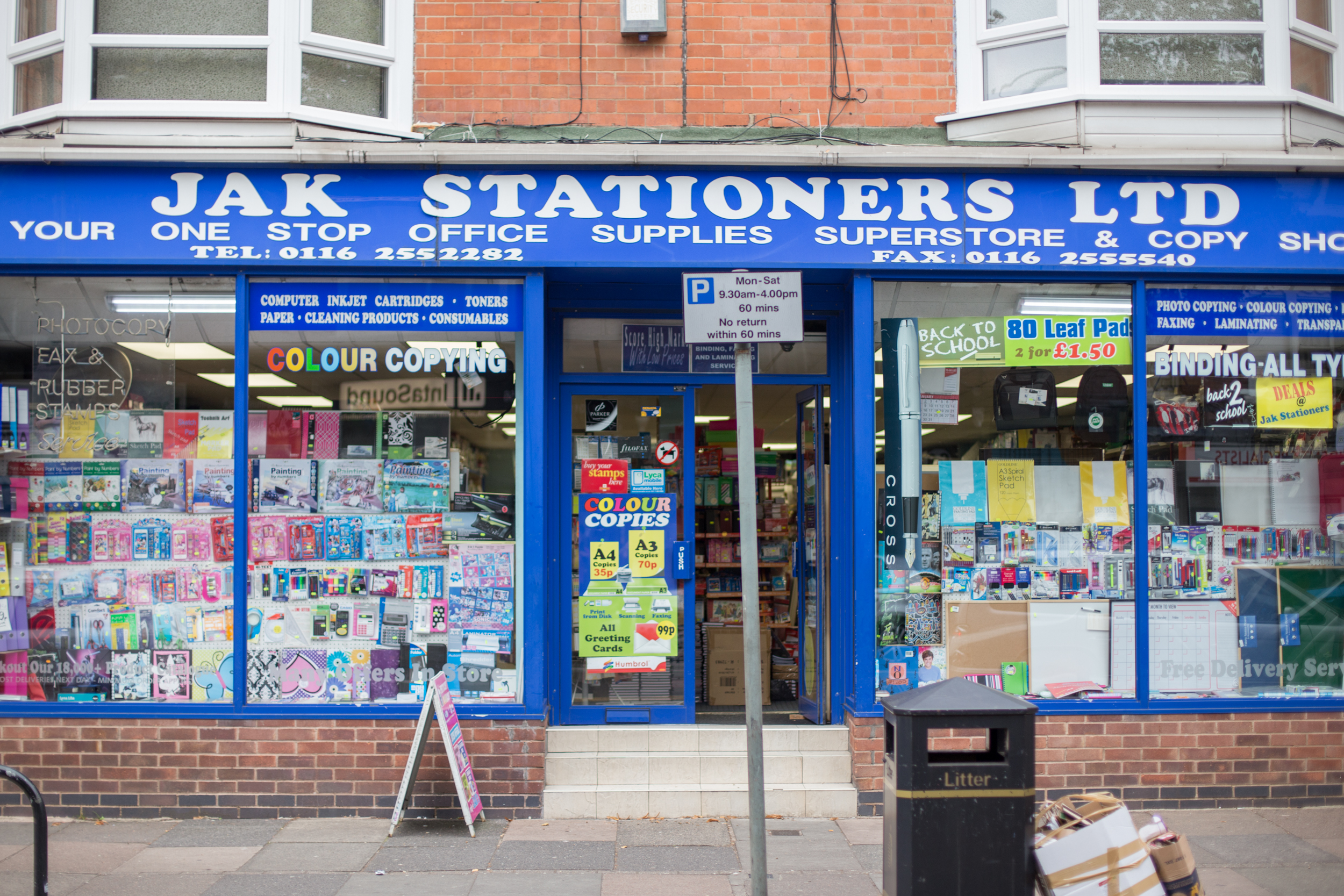 Jak Stationers #SHOPLOCAL Store Front